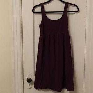 Purple T-shirt Cotton Dress
